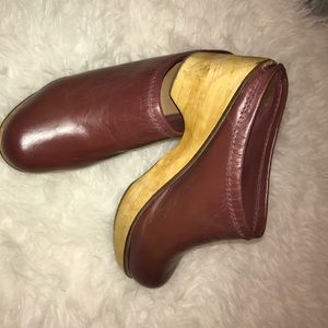 BDG Brown Leather Clogs